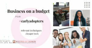Business on a budget for early adopters_ relevant techniques and cheaper technology Facebook Ad 1200x628 px